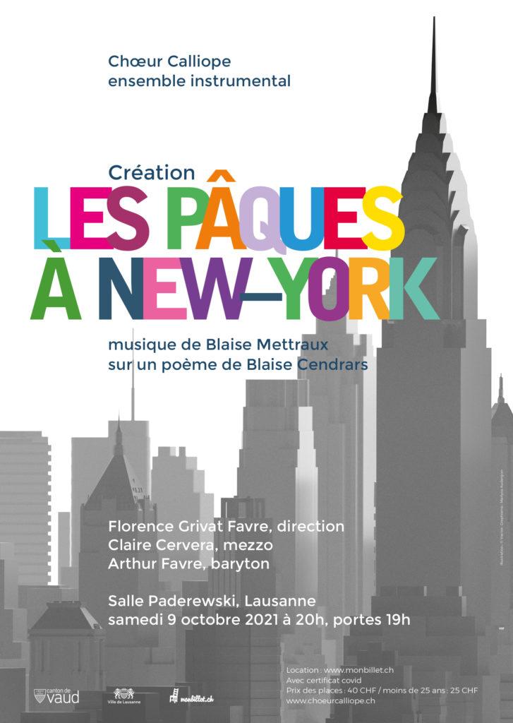 Affiche Les Pâques à New York